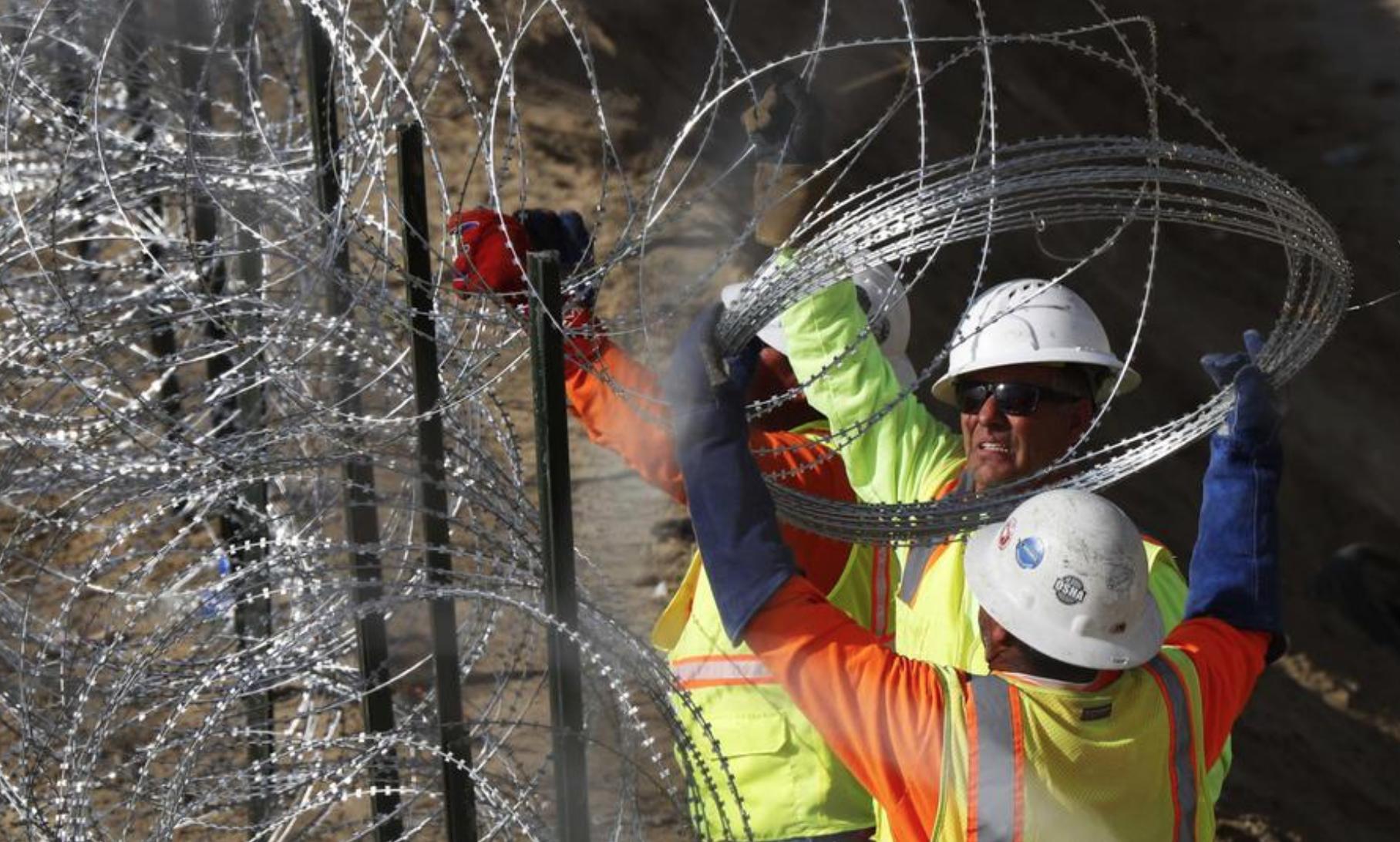 Die Grenze zwischen Mexiko und USA wird verstärkt